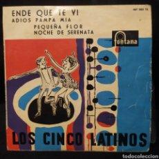 Discos de vinilo: LOS CINCO LATINOS CON LUCIO Y SU CONJUNTO - ENDE QUE TE VI 1959. Lote 296736588