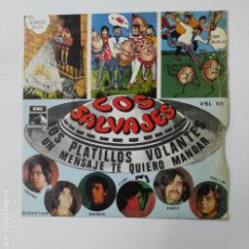 Discos de vinilo: LOS SALVAJES - LOS PLATILLOS VOLANTES. EP. TDKDS3. Lote 296741628