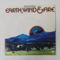 Discos de vinilo: EARTH WIND FIRE - DEVOCION - SINGLE. TDKDS3. Lote 296741758