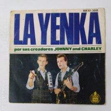 Discos de vinilo: LA YENKA POR SUS CREADORES JOHNNY AND CHARLEY. EP. TDKDS3. Lote 296741928