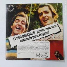 Discos de vinilo: DUO DINAMICO EP 1976 PARA FIXPRAY A TUS CABELLOS / PERDÓNAME. TDKDS3. Lote 296741968