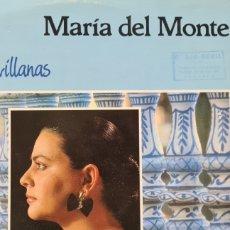 Discos de vinilo: LP. CÁNTAME SEVILLANAS. MARIA DEL MONTE. Lote 296754923