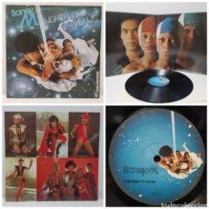 Discos de vinilo: BONEY M - NIGHTFLIGHT TO VENUS 1978 ED HOLANDESA GATEFOLD CON LAS 5 POSTALES. Lote 296767343