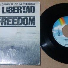 Discos de vinilo: BANDA SONORA ORIGINAL DE LA PELICULA GRITA LIBERTAD / CRY FREEDOM / SINGLE 7 PULGADAS. Lote 296767853