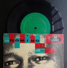 Discos de vinilo: EP. FATS DOMINO, MI CIELO AZUL. ESTOY ENAMORADO OTRA VEZ. HASTA LUEGO. +1. Lote 296784223