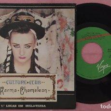 "Discos de vinilo: 7"" CULTURE CLUB - KARMA CHAMELEON - VIRGIN 516205 - PORTUGAL PRESS (EX/EX). Lote 296788138"