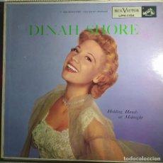 Discos de vinilo: LP DINAH SHORE - HOLDING HANDS AT MIDNIGHT - RCA LPM 1154 - US PRESS (EX-/EX+). Lote 296798683