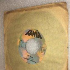 Discos de vinilo: SINGLE SANTOS COLON FROM LP SANTITOS - TE AME - HUELLAS DE AMOR - FANIA 547 -PEDIDO MINIMO 7€. Lote 296802343