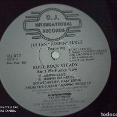 """Discos de vinilo: JULIAN """"JUMPIN"""" PEREZ FEATURING KOOL ROCK STEADY - AIN'T WE FUNKY NOW (12""""). Lote 296693598"""