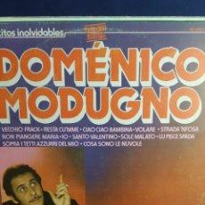 Discos de vinilo: LP ÉXITOS INOLVIDABLES DOMENICO MODUGNO. Lote 296815923