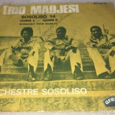 Discos de vinilo: SINGLE TRIO MADJESI ORCHESTRE SOSOLISO - TAXIMEN BONGHAT TSHE SAAKUL - AFRICAN -PEDIDO MINIMO 7€. Lote 296822698