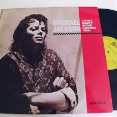 Discos de vinilo: MICHAEL JACKSON-MAXI I JUST CAN`T STOP LOVING YOU-ESPAÑOL PROMO 1987. Lote 296825588