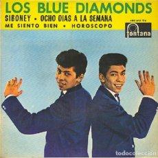Discos de vinilo: LOS BLUE DIAMONDS - SIBONEY / OCHO DÍAS A LA SEMANA / ME SIENTO BIEN / HORÓSCOPO - PHILIPS 463 313. Lote 296832673