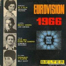 Discos de vinilo: EUROVISION 1966 - BELTER 51.644. Lote 296833193