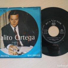 Discos de vinilo: PALITO ORTEGA - TODO ES MENTIRA / QUE PASARA - SINGLE RCA DE 1967 3-10256. Lote 296835043
