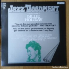 "Discos de vinilo: BILLIE HOLIDAY: ""A RARE LIVE RECORDING"" LP VINILO 1973 JAZZ VOCAL. Lote 296855233"