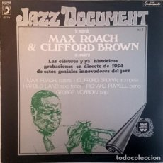 """Discos de vinilo: MAX ROACH & CLIFFORD BROWN: """"LO MEJOR DE MAX ROACH & CLIFFORD BROWN EN CONCIERTO"""" LP VINILO 1973. Lote 296856138"""