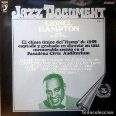 "Discos de vinilo: LIONEL HAMPTON AND THE JUST JAZZ ALL STARS:""S/T"". LP VINILO 1973 JAZZ. Lote 296856933"