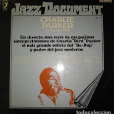 "Discos de vinilo: CHARLIE PARKER: ""CHARLIE PARKER EN EUROPA 1950"". LP VINILO 1973 JAZZ. Lote 296857818"