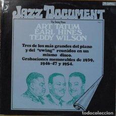 "Discos de vinilo: EARL HINES/ ART TATUM/ TEDDY WILSON: ""THE SWING PIANO"". LP VINILO 1974 JAZZ. Lote 296858578"