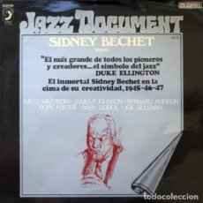"""Discos de vinilo: SYDNEY BECHET: """"SESSIONS"""" LP VINILO 1974 JAZZ. Lote 296859088"""