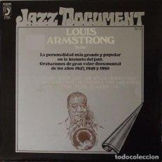 "Discos de vinilo: LOUIS ARMSTRONG: ""LOUIS ""SATCHMO"" ARMSTRONG"" LP VINILO 1974 JAZZ. Lote 296860188"