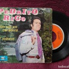 Discos de vinilo: PEDRITO RICO - VOS SOS UN CARADURA - SINGLE MARFER. Lote 296863293