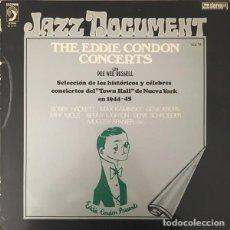"""Discos de vinilo: EDDIE CONDON: """"THE EDDIE CONDON CONCERTS CON PEE WEE RUSSELL"""" LP VINILO 1976 JAZZ. Lote 296868098"""