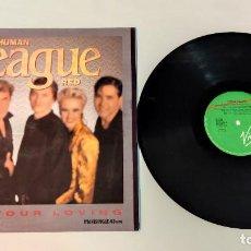 "Discos de vinilo: 1021- THE HUMAN LEAGUE RED I NEED YOUR LOVING MAXI SINGLE 12"" P VG+ D VG+ 1986 ES. Lote 296872798"