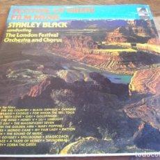 Discos de vinilo: STANLEY BLACK - FESTIVAL OF GREAT FILM MUSIC - TRIPLE LP ORIGINAL LONDON 1975 HECHO EN COSTA RICA. Lote 296881558