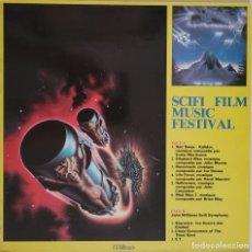 Discos de vinilo: SCIFI FILM MUSIC FESTIVAL. JOHN WILLIAMS. MORRICONE. MANCINI.ETC. Lote 296881618
