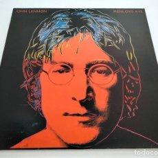 Discos de vinilo: VINILO LP DE JOHN LENNON. MENLOVE AVE. 1986. COMO NUEVO.. Lote 296885428