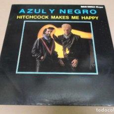 Discos de vinilo: AZUL Y NEGRO (MAXI) HITCHCOCK MAKES ME HAPPY (2 TRACKS) AÑO – 1984. Lote 296911208