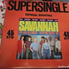 """Discos de vinilo: SAVANNAH– WE ARE ALLRIGHT.1981. RCA – SPCO7260 SERIE: DANCE MUSIC – FORMATO(12""""),NUEVO.MINT / MINT. Lote 296914778"""