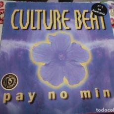 "Discos de vinilo: CULTURE BEAT – PAY NO MIND. 1998.SELLO:BLANCO Y NEGRO – MX 875 FORMATO:VINYL, 12"",NUEVO. MINT / VG+. Lote 296915518"