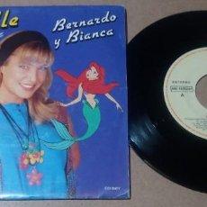 Discos de vinilo: MICHELLE / BERNARDO Y BIANCA / SINGLE 7 PULGADAS. Lote 296944623