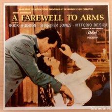 Discos de vinilo: A FAREWELL TO ARMS (ADIÓS A LAS ARMAS) MARIO NASCIMBENE DISCOS VINILO 1985 COMO NUEVO!!. Lote 296950848