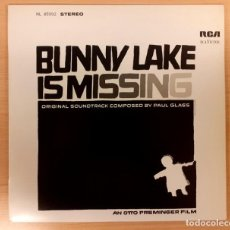 Discos de vinilo: BUNNY LAKE IS MISSING (EL RAPTO DE BUNNY LAKE) PAUL GLASS DISCOS VINILO 1986 RARO Y COMO NUEVO!!. Lote 296951743