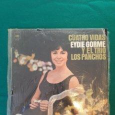 Discos de vinilo: EYDIE GORME Y EL TRIO - LOS PANCHOS-CUATRO VIDAS - LP - AÑO 1970.. Lote 296951868
