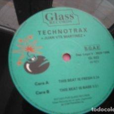 Discos de vinilo: TECHNOTRAX  THE BEAT IS FRESH. Lote 296958433