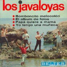 Discos de vinilo: LOS JAVALOYAS - BOMBONCITO MELOCOTÓN Y TRES MÁS - BELTER 51.665 - 1966. Lote 296960363