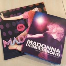 Discos de vinilo: MADONNA - CONFESSIONS ON A DANCE FLOOR-2LPS ROSAS- EUROPA 2006+LIBRO FOTOGRAFIAS MADONNA CONFESSIONS. Lote 296961643
