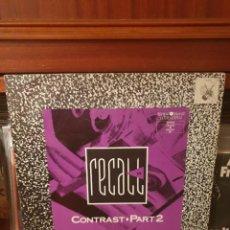 Discos de vinilo: RECAL IV / CONTRAST ... / ZYX RECORDS 1990. Lote 297041133