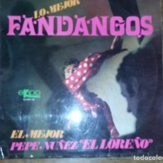 Discos de vinilo: LP LO MEJOR FANDANGOS. PEDIDO MINIMO 3 EUROS.. Lote 297045308