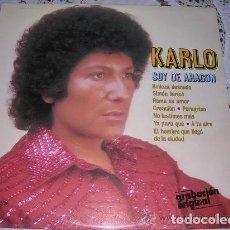 Discos de vinilo: P - KARLO - SOY DE ARAGON - ORIGINAL ESPAÑOL, OLYMPO 1979. Lote 297060443