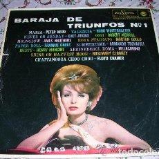 Discos de vinilo: BARAJA DE TRIUNFOS Nº 1 RCA VICTOR / SPAIN 1963. Lote 297060633