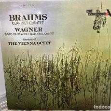 Discos de vinilo: BRAHMS, WAGNER - CLARINET QUINTET & ADAGIO FOR CLARINET & STRING QUARTET (LP, ALBUM). Lote 297059933