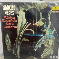 Discos de vinilo: NARCISO YEPES - MÚSICA ESPAÑOLA PARA GUITARRA (LP, ALBUM). Lote 297061388