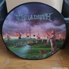 Discos de vinilo: VINILO MEGADETH – YOUTHANASIA. PICTURE 2014.. Lote 297066998