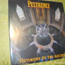 Discos de vinilo: PESTILENCE. TESTIMONY OF THE ANCIENTS. R/C RECORDS, 1991 ( RC 9285-1) CON INSERT. (#). Lote 297069678
